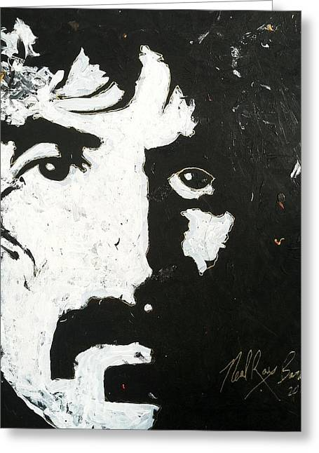 Barbosa Paints Zappa Greeting Card