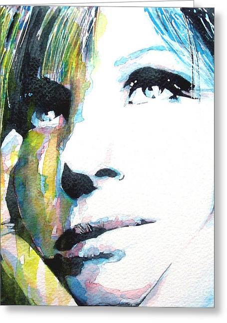 Barbra Greeting Card by Paul Lovering