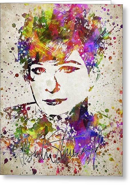 Barbra Streisand In Color Greeting Card by Aged Pixel