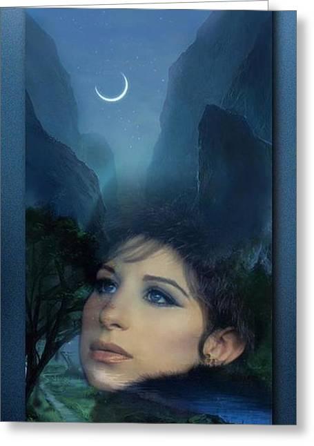 Barbra's Smiling Moon Greeting Card