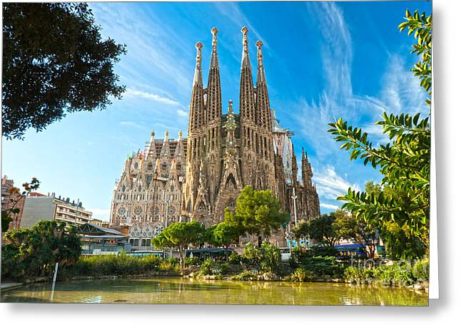 Barcelona - La Sagrada Familia Greeting Card
