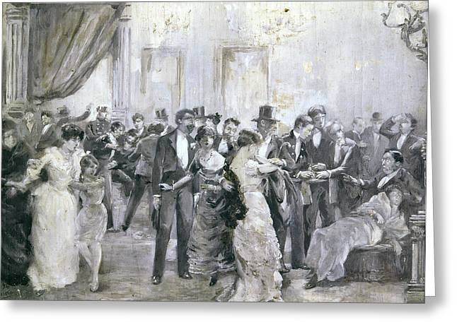 Barcelona Bombing, 1893 Greeting Card by Granger