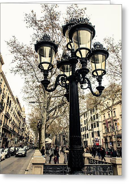Barcelona - La Rambla Greeting Card
