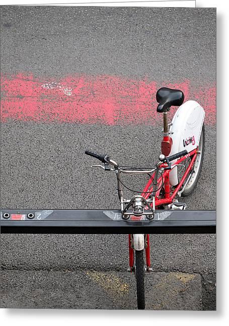 Barcelona Spain Bicycle Greeting Card by John Jacquemain