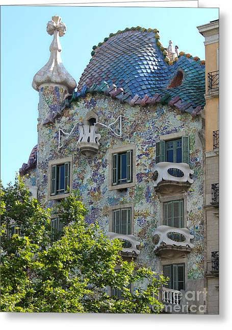 Barcelona Spain Greeting Card by Gregory Dyer