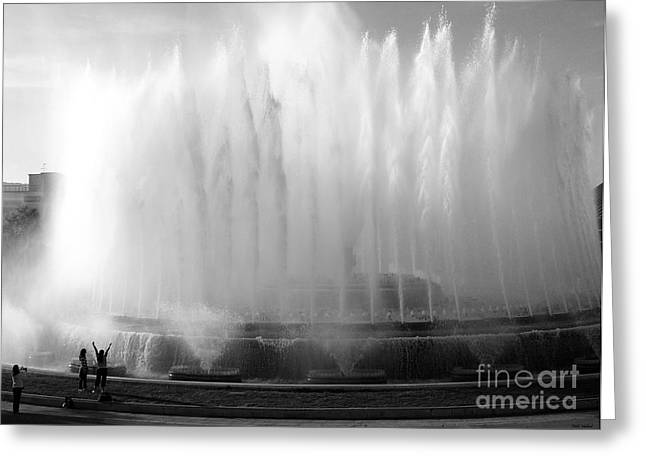 Barcelona Water Fountain Joy Greeting Card