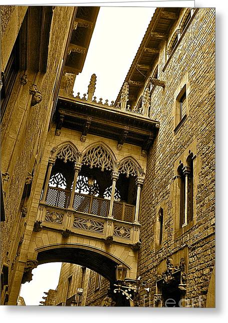 Barcelona With  Love  Greeting Card