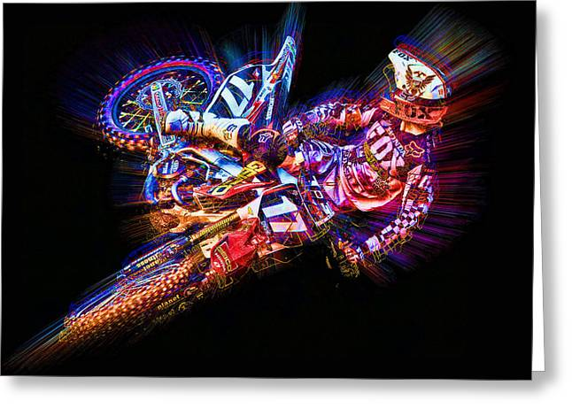 Barcia Whip Greeting Card by Ethan Deloache