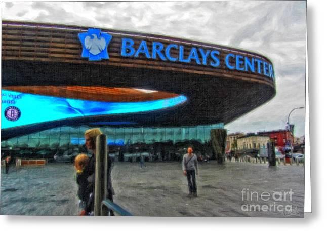 Barclays Center Brooklyn Greeting Card by Nishanth Gopinathan