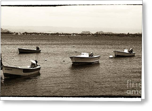 Barcos Greeting Card by John Rizzuto