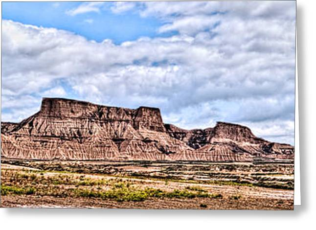 Bardenas Desert Panorama 1 Greeting Card