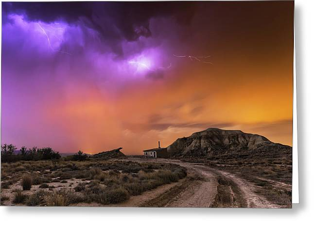 Bardenas Storm Greeting Card