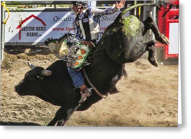 Bareback Bull Riding Photograph By Ron Roberts