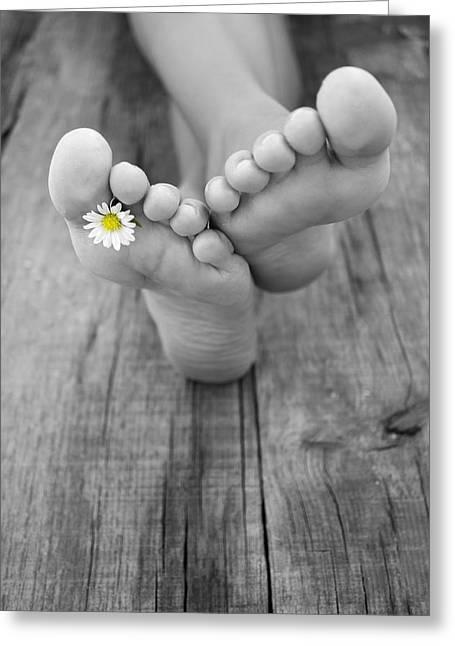 Barefoot Greeting Card