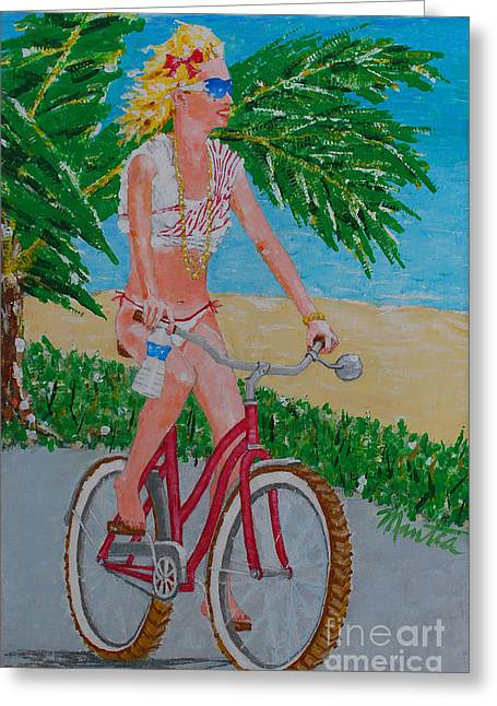 Barefoot Beach Crusing  Greeting Card
