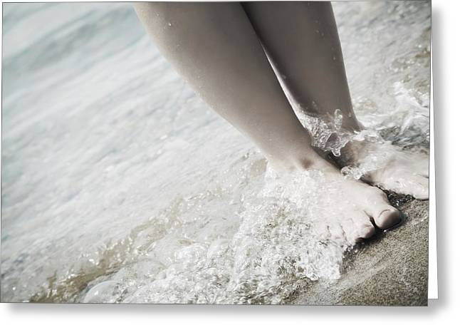 Barefoot On The Beach Greeting Card by Don Hammond