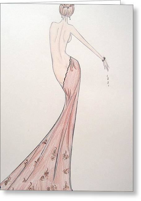 Barely Draped Greeting Card by Christine Corretti