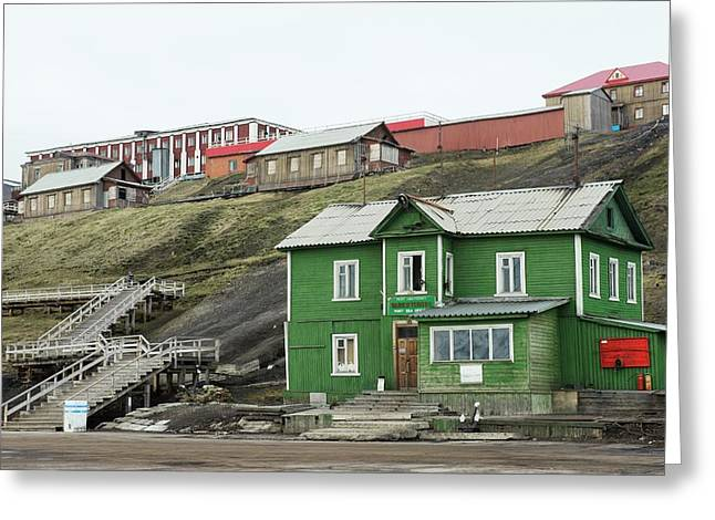 Barentsburg Greeting Card by Dr P. Marazzi/science Photo Library