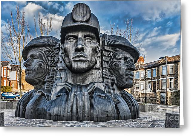 Bargoed Miners 2 Greeting Card by Steve Purnell