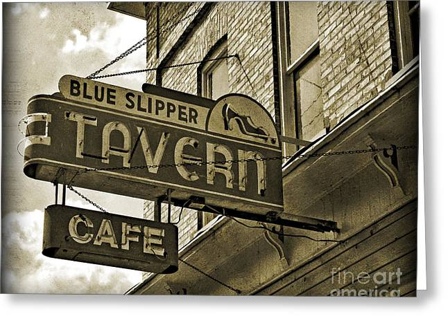 Greeting Card featuring the photograph Barhopping At The Blue Slipper 2 by Lee Craig