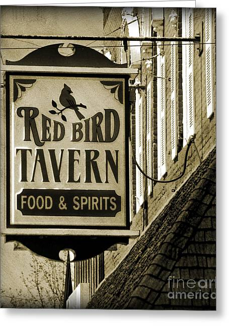 Greeting Card featuring the photograph Barhopping At The Red Bird 2 by Lee Craig