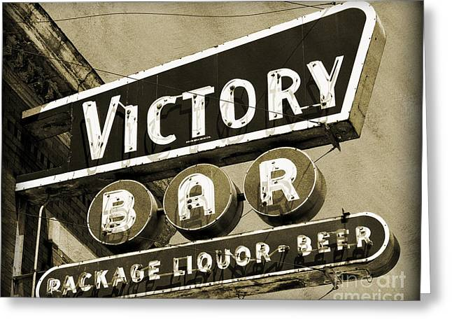 Greeting Card featuring the photograph Barhopping At The Victory 2 by Lee Craig