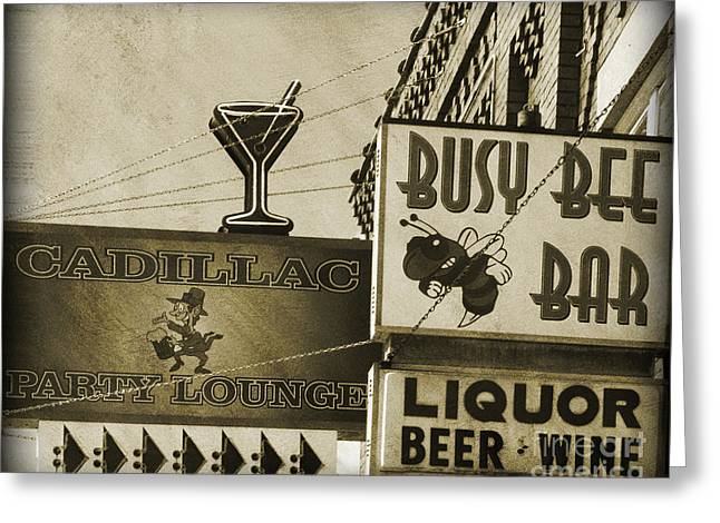 Greeting Card featuring the photograph Barhopping Cadillac Style 2 by Lee Craig