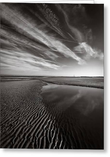 Barkby Beach 1 Greeting Card by Dave Bowman