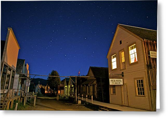 Barkerville At Night Greeting Card