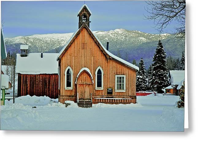 Barkerville Historic Town In Winter Greeting Card