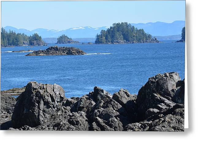 Barkley Sound And The Broken Island Group Ucluelet Bc Greeting Card