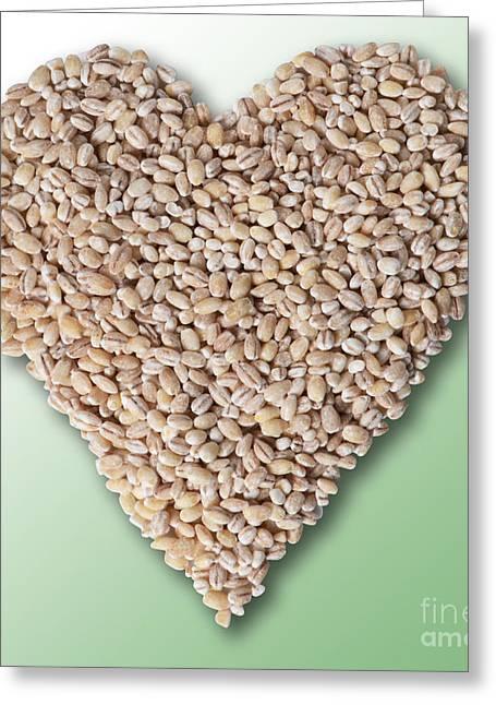 Barley Heart Greeting Card by Gwen Shockey