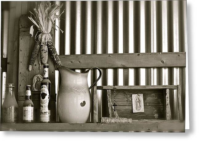 Barn Altar Greeting Card by Kim Pippinger
