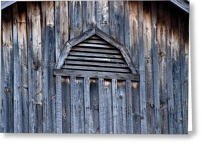 Barn And Batten Greeting Card by Nickaleen Neff