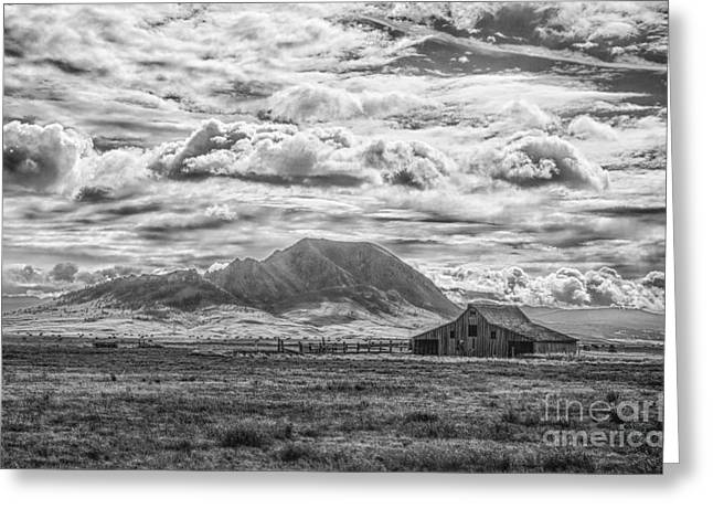 Barn And Bear Butte Greeting Card