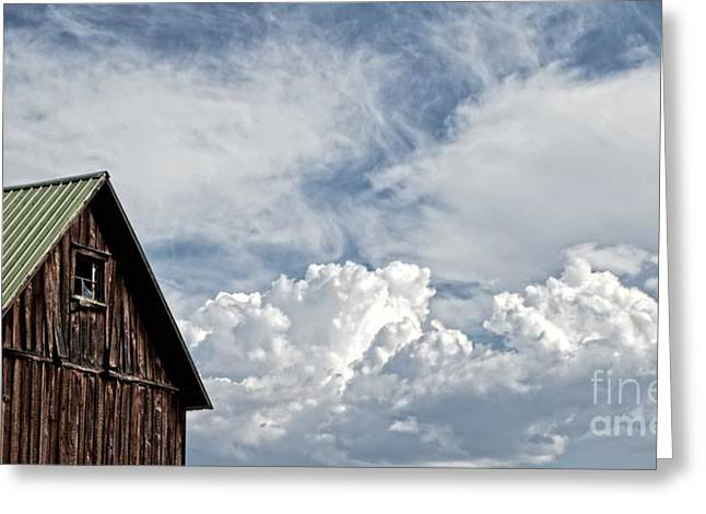 Greeting Card featuring the photograph Barn And Clouds by Joseph J Stevens