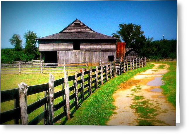 Barn And Fence In Virginia Greeting Card by Jo Anna Wycoff