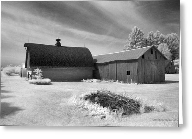 Barn And Grove On Hwy Z Greeting Card