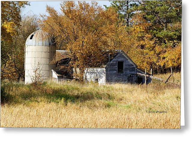 Barn And Silo 2 Greeting Card