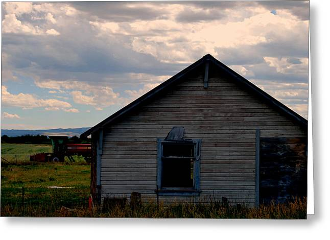 Greeting Card featuring the photograph Barn And Tractor by Matt Harang