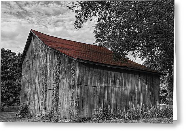 Barn At Avenel Plantation - Red Roof Greeting Card