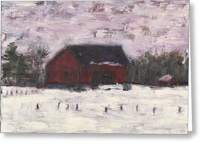 Barn At Myles Acres Greeting Card by David Dossett