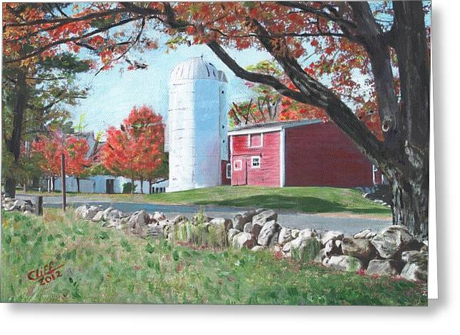 Barn At Warren Center Greeting Card by Cliff Wilson