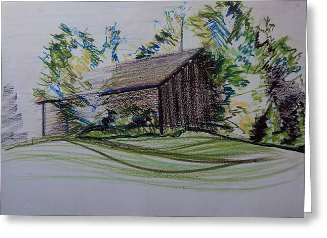 Old Barn At Wason Pond Greeting Card