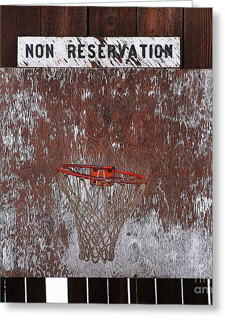 Barn Basketball Greeting Card