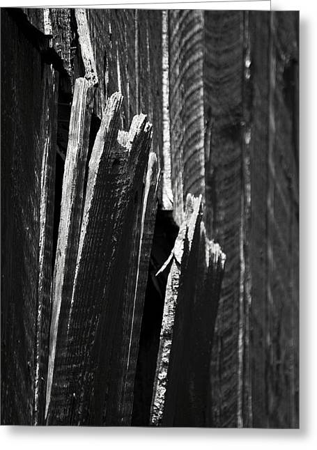 Barn Boards Black And White Greeting Card