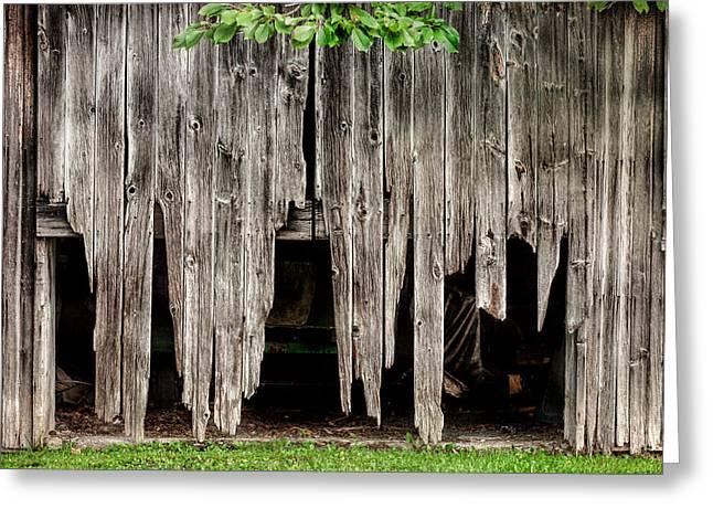 Barn Boards - Rustic Decor Greeting Card by Gary Heller