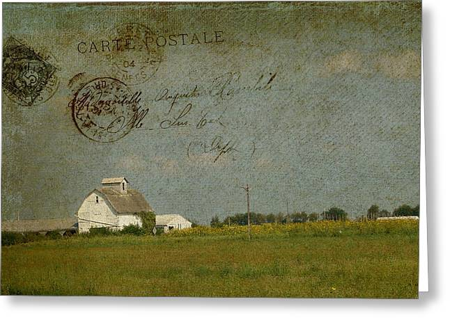 Barn Carte Postale Greeting Card by Cassie Peters