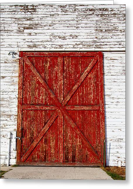 Barn Door Greeting Card by Fran Riley