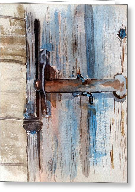 Barn Door Latch Greeting Card